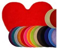 Kusový koberec Eton Srdce červený 100x120 cm