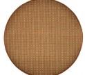 Guľatý koberec Birmingham hnedý priemer 120 cm