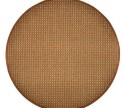 Guľatý koberec Birmingham hnedý priemer 160 cm