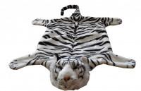 Plyšový tygr bílý 50x85 cm