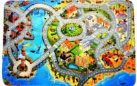 Dětský koberec Ultra Soft Město s pláží 130x180 cm