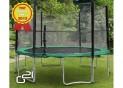 Trampolína G21 s ochrannou sieťou 430 cm zelená
