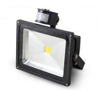 LED reflektor G 21 s PIR čidlem 30 W studená bílá 2462 Im černý