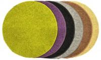 Kulatý koberec Elite Shaggy hnědý průměr 80 cm