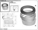 Manžeta WC připoj. T3560/II exentrická 2160115