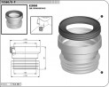 Manžeta WC připoj. T3560/II přímá 2160116