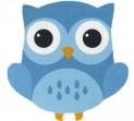 Detský koberec 750 Njoy 210 owl blue 67 x 67 cm