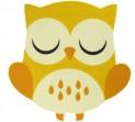 Detský koberec 750 Njoy 255 owl yellow 67 x 67 cm