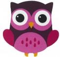 Detský koberec 750 Njoy 201 owl pink 67 x 97 cm