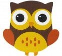 Detský koberec 750 Njoy 212 owl brown 67 x 67 cm