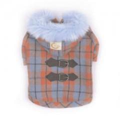 Kostkovaný kabátek s kapucí S - 20 cm