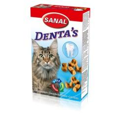 SANAL DENTAďS Bites 75 g - křupavý snack na čištění zubů