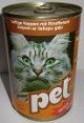 PET KATZE kostky s hovězím masem pro kočky 410 g