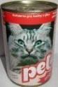 PET KATZE masové kostky s játry pro kočky 410 g