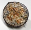 Půlka kokosového ořechu s lojem S PŘÍCHUTÍ, pro sýkorky