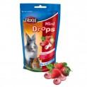 MINI dropsy jahodové pro morčata, králíky 75 g