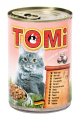 TOMI konzerva telecí pro kočky 400 g