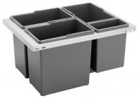 Výsuvný odpadkový 4 koš SORTER 12