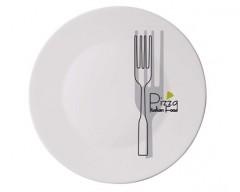 BORMIOLI Talíř skleněný pizza FORK 33 cm
