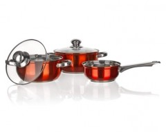 BANQUET Sada nerezového nádobí MAESTRO Orange, 5 ks
