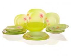 Sada talířů ANGEL, 19 ks, green