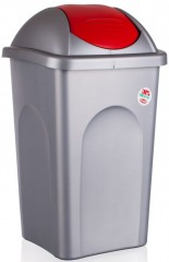 Koš odpadkový 60 l červené víko výklopné 4052219