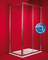 Sprchový kout Braga 80 x 100 x 195 cm, bez vaničky, čiré sklo