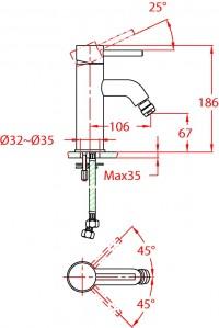 Bidetová baterie York 374433C