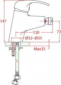 Bidetová baterie Ares 394339C