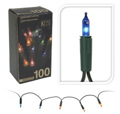Světla vánoční 100 žárovek barevná vnitřní 4261659