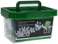 Světla vánoční 120 LED žárovek bílá vnitřní i venkovní v plastovém boxu 4261671