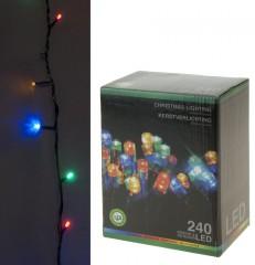 Světla vánoční 240 LED barevné, 18 m 4261005