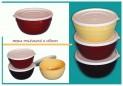 Miska polévková 13x7 cm/700 ml plastové víčko 1070072