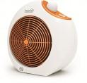 Teplovzdušný ventilátor 1000W 2000W oranžový dizajn