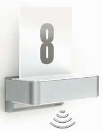 STEINEL L 820 LED iHF nástěnná senzorová lampa stříbrná s domovním číslem