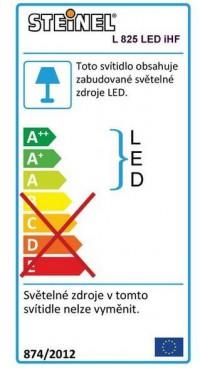 STEINEL L 825 LED iHF nástěnná senzorová lampa stříbrná