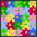Detský koberec Puzzle 200x200 cm