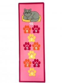 Dětský koberec Skákací panák růžový kočka 67x200 cm