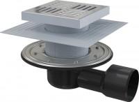 Podlahová vpust 150 150/50/75 boční mřížka nerez nerezová příruba a límec 2 úrovně izolace APV3444