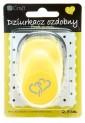 dpCraft Dekoračné dierovač 2,5cm - prepletená srdce, (JCDZ110-134)