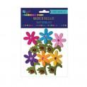 dpCraft Filcové 3D samolepky - kvety a lienky, 6 ks, (KSFI-038)