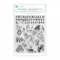 dpCraft Razítko akrylové – dítě a abeceda, 56 ks, (DPSA-003)