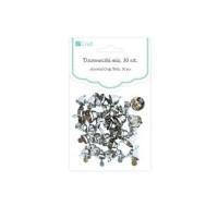 dpCraft Zvonečky mix stříbrné, 30 ks, (DPME-001)