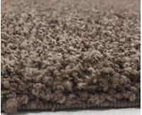 Kusový koberec Life Shaggy 1500 brown průměr 80 cm