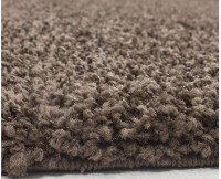 Kusový koberec Life Shaggy 1500 brown průměr 120 cm