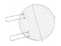 Grilovací rošt kruhový 40 cm