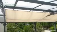 Sluneční plachta 270 x 140 cm – barva světle slonovinová