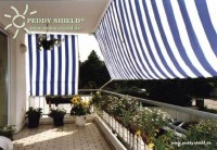 Sluneční plachta 270 x 140 cm – barva pruhů modro-bílá