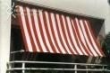 Slnečná plachta 270 x 140 cm - farba pruhov červeno-biela