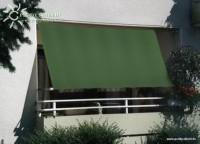 Sluneční plachta 270 x 140 cm – barva zelená BEZ PRUHŮ